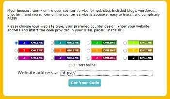 MyOnlineUsers - ücretsiz online sayaç servisi